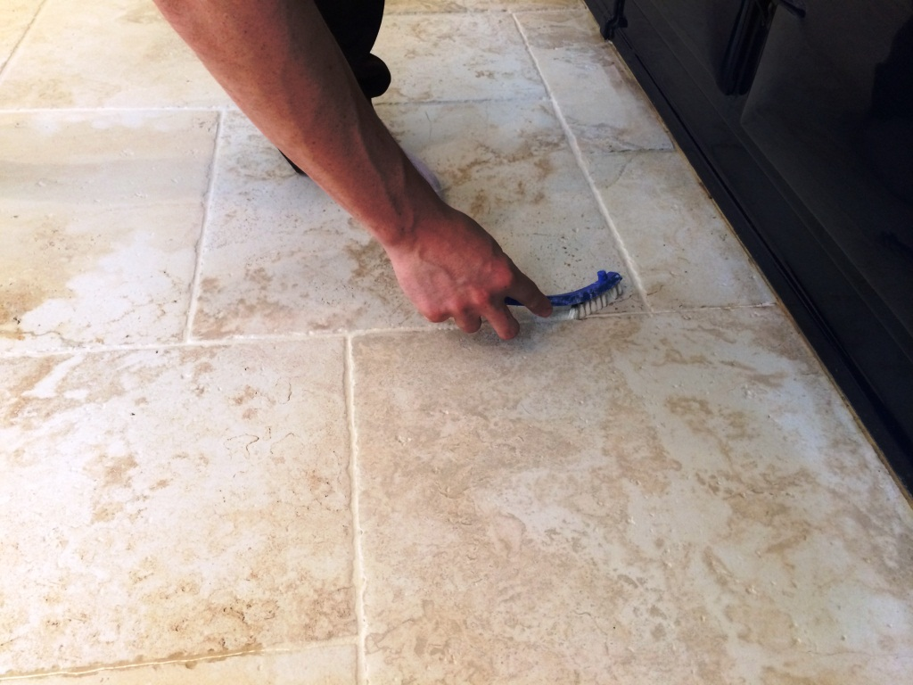 Kitchen Grout Cleaning