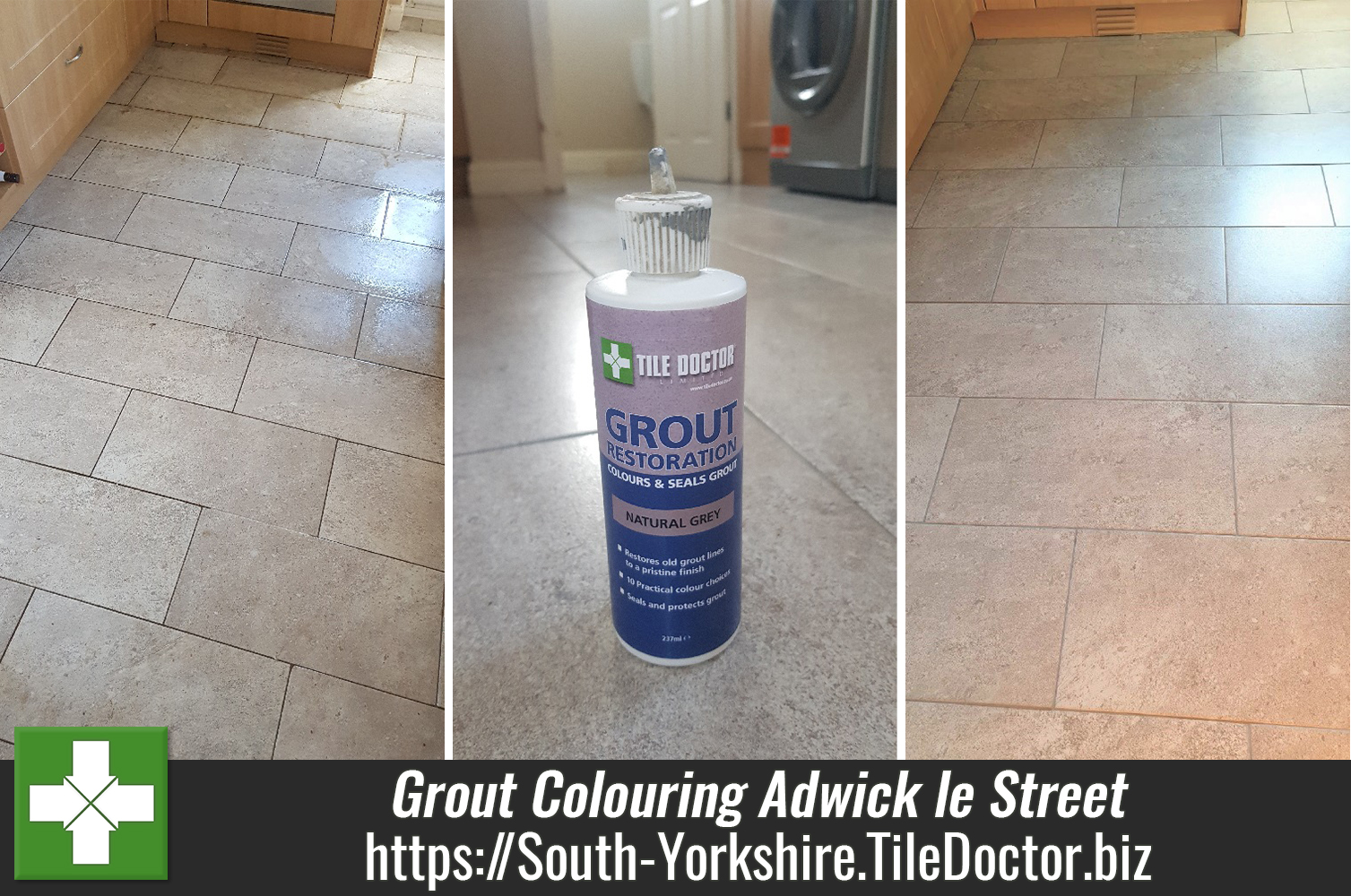 Colouring-Cleaning-Ceramic-Tiled-Kitchen-Floor-Grout-in-Adwick le Street